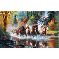 Running Horses  5D Diamond Painting DIY 5D Embroidery Home Decor Craft Diamond Painting Cross Stitch