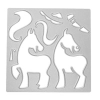 Unicorns Horses Metal Cutting Dies Stencils DIY Scrapbooking Craft Folder